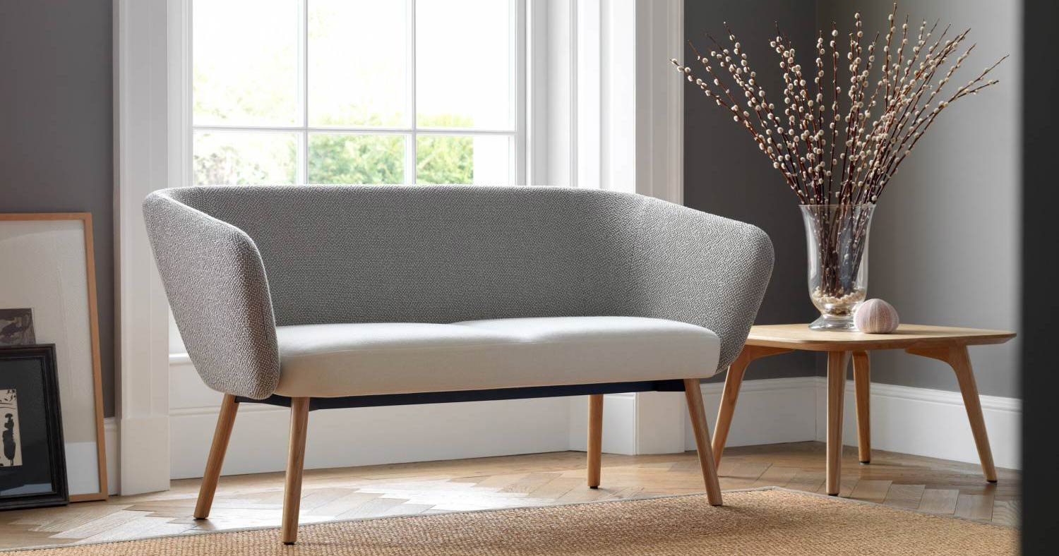 Ocee Design Billo 2 Seater Sofa with Wooden Legs