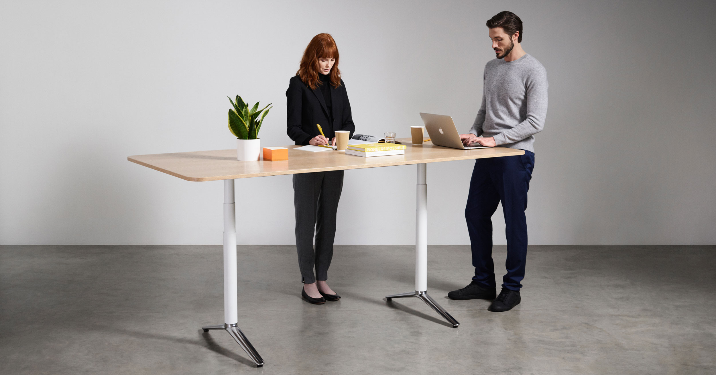 Boss Design ACDC Height Adjustable Meeting Table