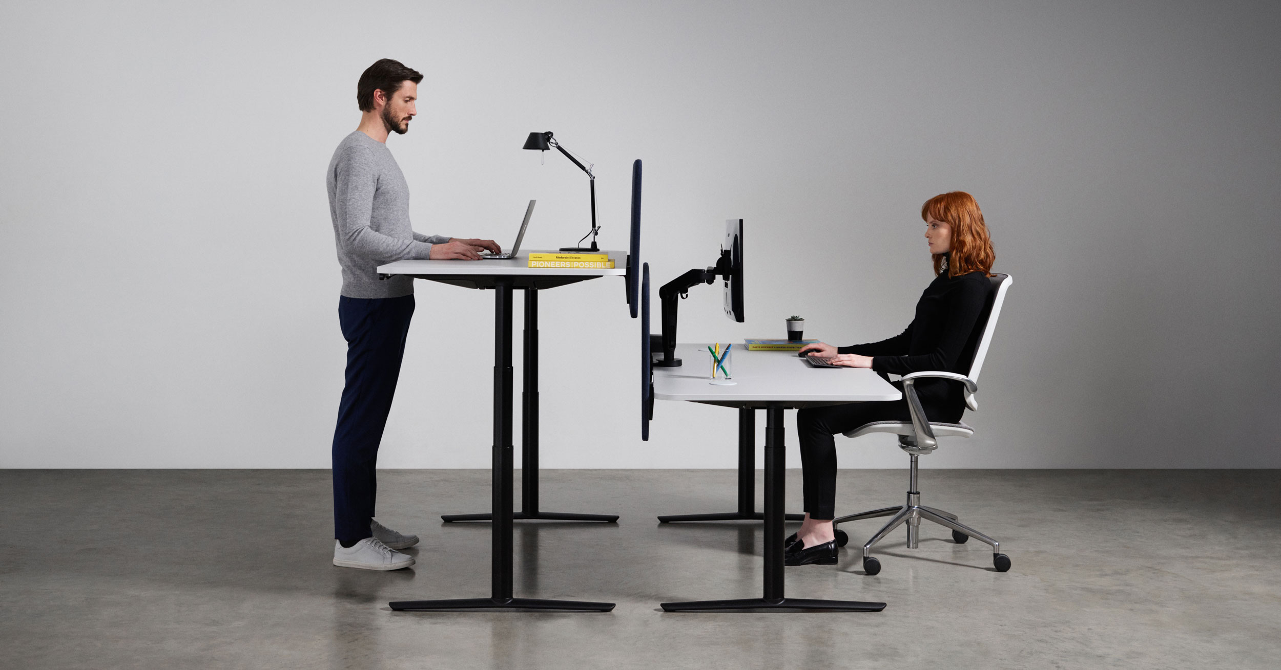 Boss Design ACDC Sit Stand Double Bench
