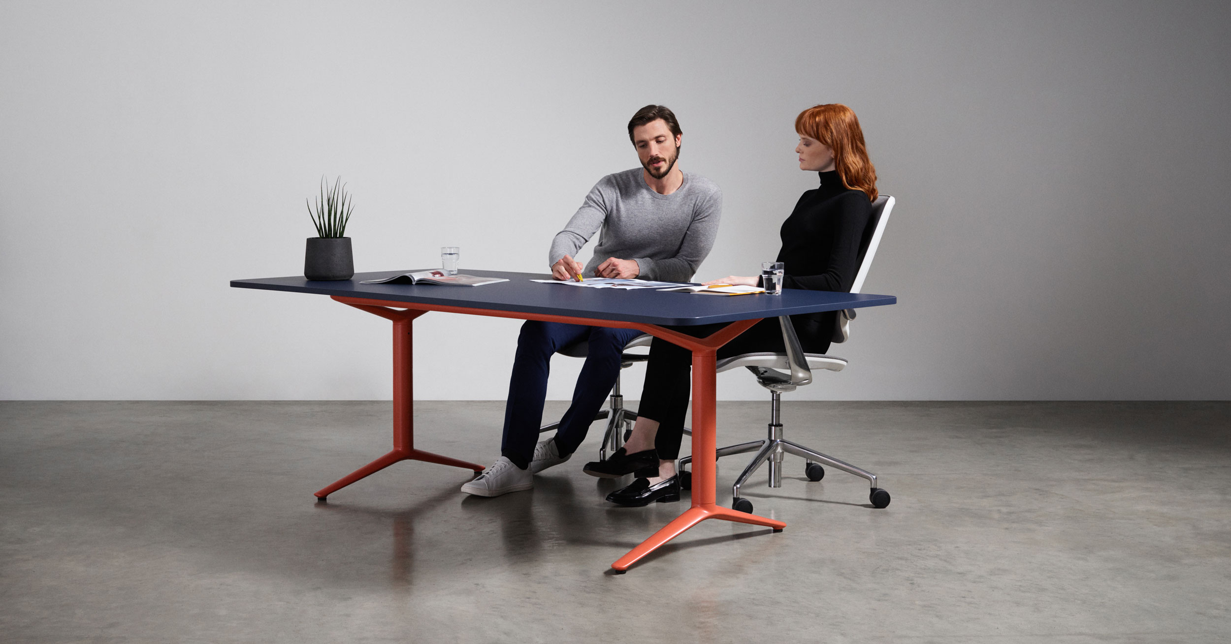 Boss Design ACDC Static Height Desk Coloured Frame