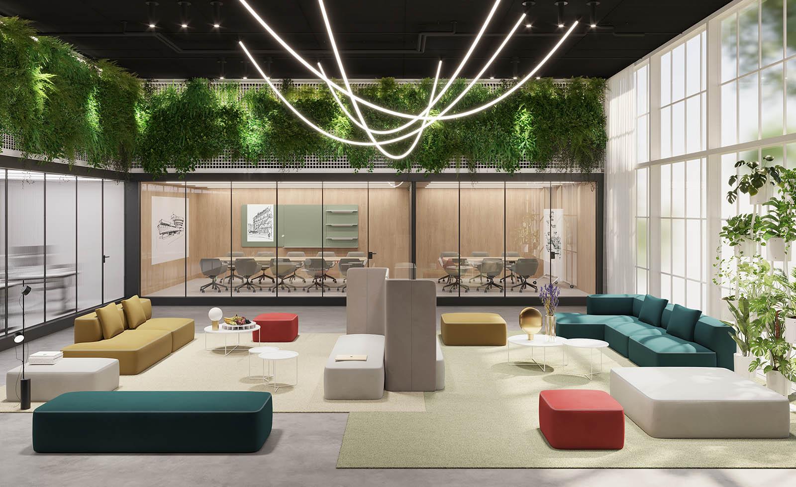 ThThink Furniture - Hybrid Office Design - Brunner Pads Seating Collection