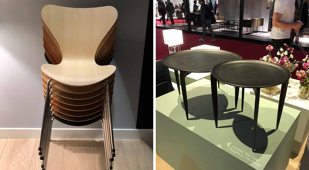Fritz Hansen Series 7 Chair & Foldable Tray Table
