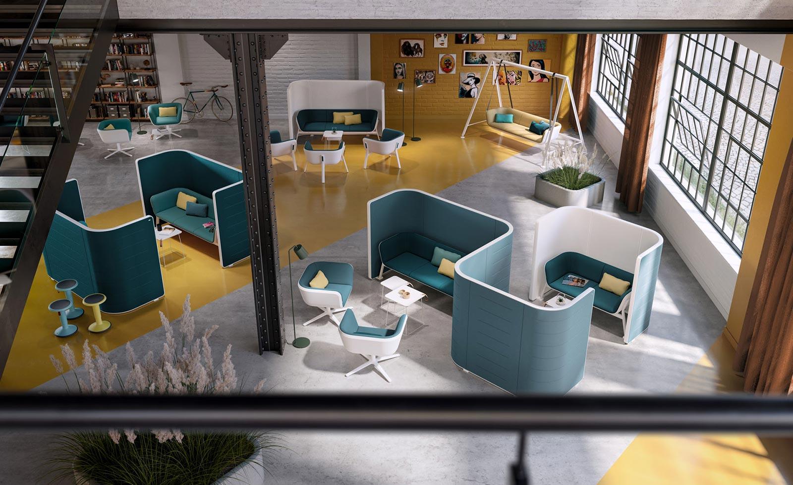 Think Furniture - Hybrid Office Design - Interstuhl Splaces