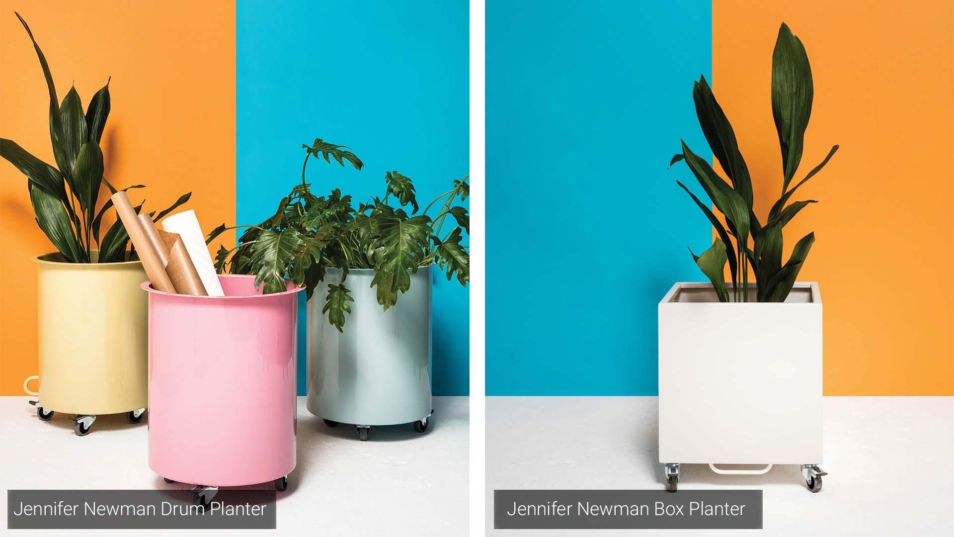 Jennifer Newman Drum & Box Planter