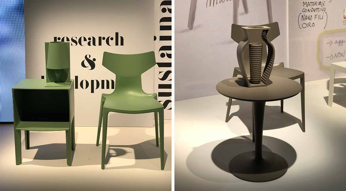 Kartell Bio Chair, Take Light, I Shine Vase & Top Top Table