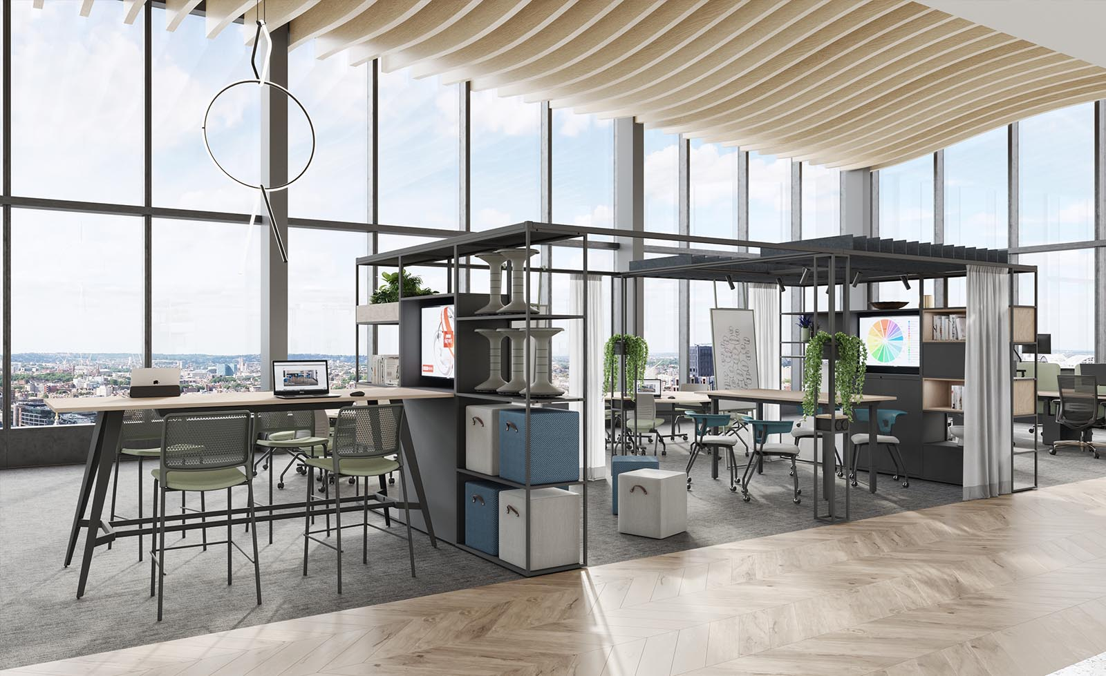 Think Furniture - Hybrid Office Design - KI Colonnade Collection