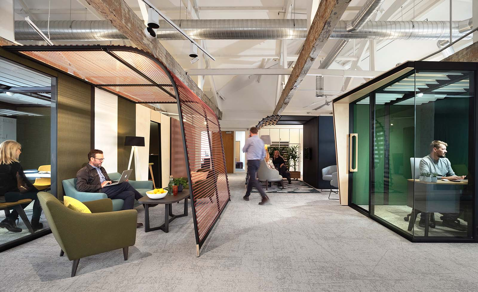 Think Furniture - Hybrid Office Design - Orangebox Campers and Dens