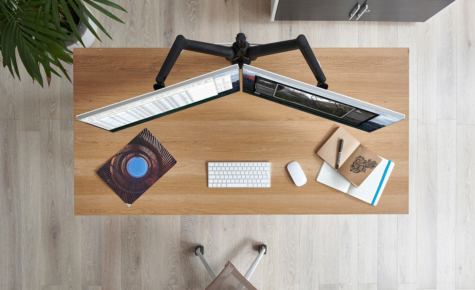 Think Furniture - Home Office Furniture - Monitor Arms - CBS Lima Dual Arm