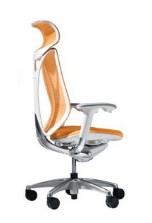 Okamura Sabrina chair with head rest and and armrests