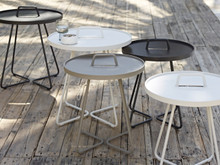 On the move side table by Cane Line
