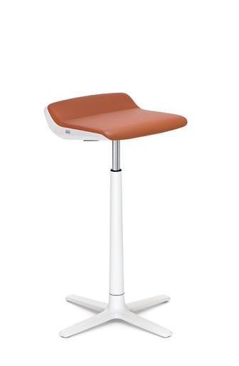 Interstuhl KINETICis5 barstool in white with orange