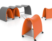 Mobica+ Torro Saddle Chair by Martin Ballendat Bench Storage