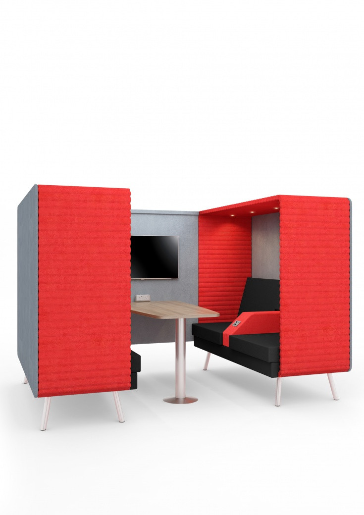 Elite Office Furniture Retreat Double Booth
