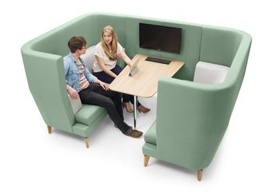 Lyndon Design Entente 2 Seat High Back Pod