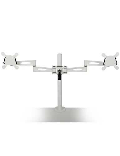 Metalicon Pole Mounted Dual Monitor Arm White