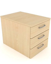 Elite Under Desk 3 Drawer Mobile Pedestal