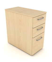 Elite Under Desk 3 Drawer Narrow Mobile Pedestal