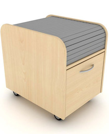Elite Under Desk Mobile Tambour Filing Pedestal