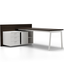 Forma 5 Semi-Executive Desk with Credenza