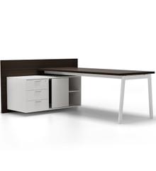 Forma 5 Semi-Executive Desk with Credenza