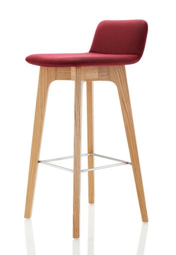 Lyndon Design Agent Bar Stool Oak - Front