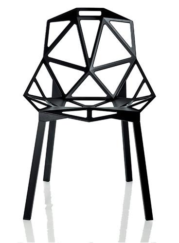 All black Magis chair one
