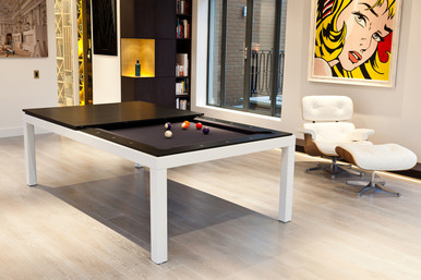 Exceptionnel Aramith Fusion Pool Dining Table   White Powder Coated Frame
