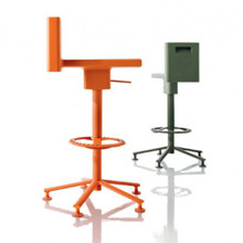Magis 360° Stool - Orange & Olive Green