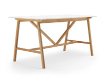 Lyndon Design Agent High Table European Oak with White MFC Top