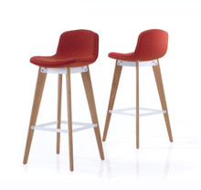Orangebox Cubb Bar Stool Wood Base