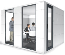 Studiobricks conference pod in white laminate