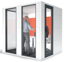 Studiobricks Meeting pod in white laminate