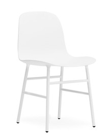 CLEARANCE Normann Copenhagen Form Chair in White Steel
