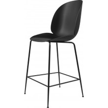 Gubi Beetle Stool with black shell and legs