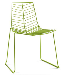 Arper Leaf Sled Chair Stacking