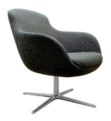 Frovi ILK Low Chair 4 Star Swivel Base Polished Aluminium