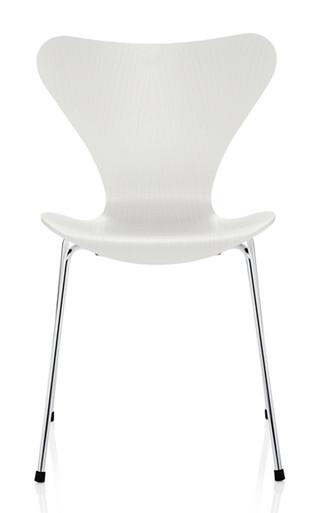 Fritz Hansen Series 7 Chair, 4 Leg White Coloured Ash