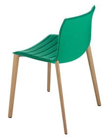 Arper Catifa 53 Chair Solid Oak Base - Upholstered  sc 1 st  Think Furniture & Arper Catifa 53 Chair Solid Oak Base - Polypropylene