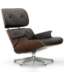 Vitra Eames Lounge Chair Black Pigmented Walnut