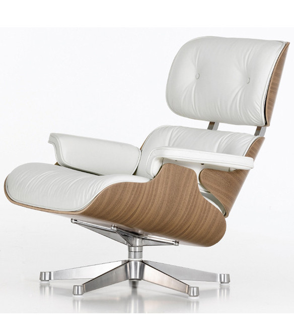 Vitra Eames Lounge Chair And Ottoman White Pigmented Walnut