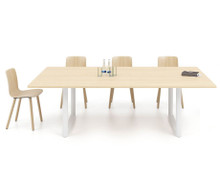 Vitra Tyde Meeting Table Light Oak