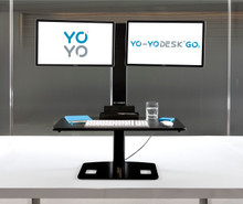 Yo-Yo Desk GO 2 - Dual Screen Sit Stand Desk, Up