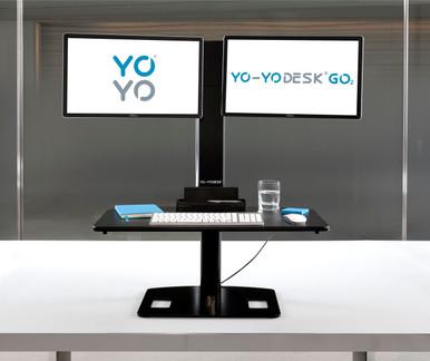 Yo-Yo Desk GO 2 - Dual Screen Sit Stand Desk, Up