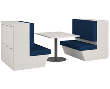 Simplicity Convergence Double Booth Lockers & Table