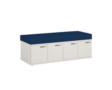 Simplicity Convergence Change Station - 4x Small Lockers & Seating