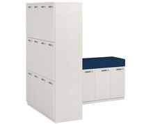 Simplicity Convergence Change Station - 16x Medium Lockers & Seating