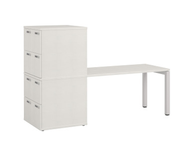 Simplicity Convergence Meeting Table With Lockers - 8x small lockers & integrated small meeting table.