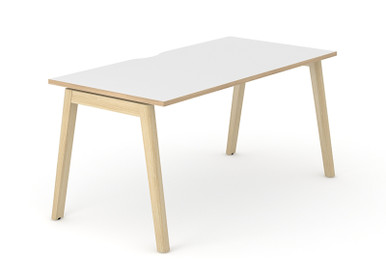 Nova Wood Single Desk - White