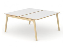 Nova Wood Bench Desking White