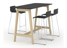 Nova Wood High Table Black